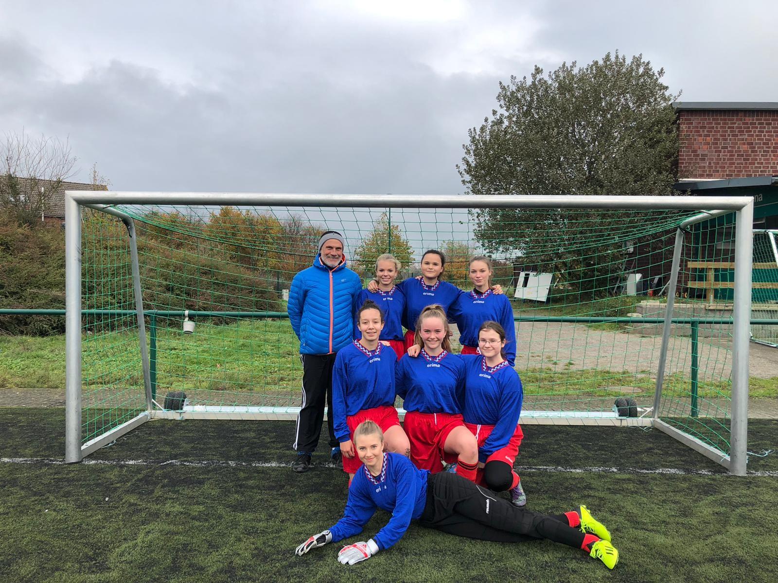 Mädchen-Fußballmannschaft