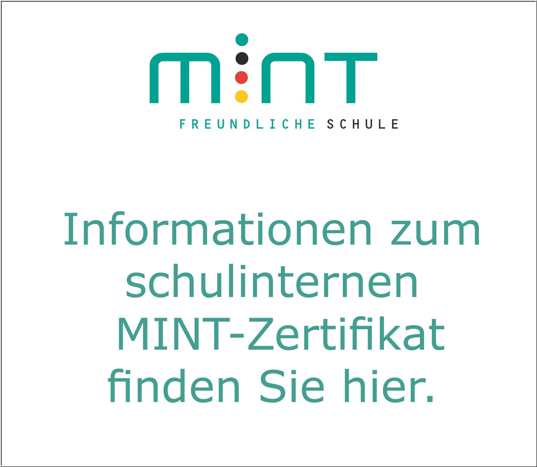 Schulinternes MINT-Zertifikat